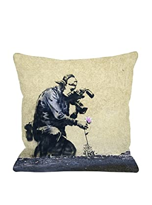 Banksy Flower Pillow