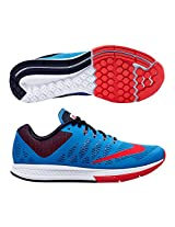 Nike Men's Air Zoom Elite 7 Sky Blue, Orange and White Running Shoes - UK 8