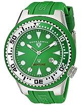 Swiss Legend Men's 21818D-08-GS Neptune Collection Stainless Steel Green Rubber Watch