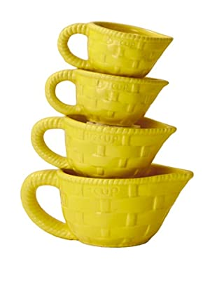 Home Essentials 4-Piece Measuring Cup Set (Yellow)