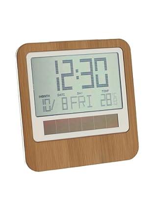 Lexon Safe Bamboo Solar LCD Desktop Clock