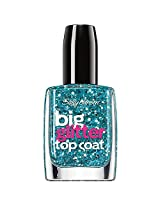 Sally Hansen Treatment Big Glitter Top Coat Nail Color, Blue Moonlight, 0.4 Fluid Ounce