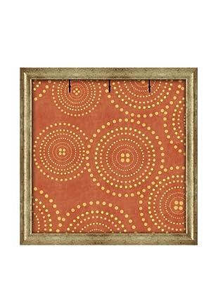 PTM Images Canvas Key/Jewelry Organizer with Foam-Core Backing, Orange