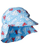 Flap Happy Baby Boys' UPF 50+ Original Microfiber Flap Hat, Somersault Sails, Small