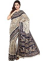 Parchayee Women's Raw Silk Saree (94349B, Beige, Free Size)