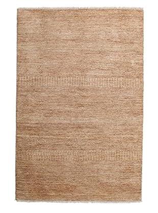 Darya Rugs Modern Oriental Rug, Brown, 3' 10