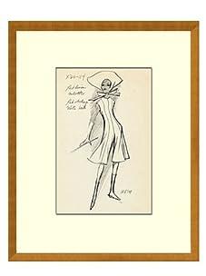 Vintage Women's Heim Fashion Sketch c.1968