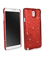 Galaxy Note 3 Case, BoxWave® [Glamour & Glitz Case] Slim, Snap-On Glitter Cover for Samsung Galaxy Note 3 - Ruby