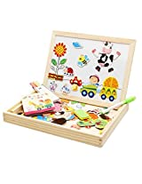 Lewo Farm Magnetic Board Games Double Face Drawing Board Wooden Education Toys For Kids Dry Erase Board Jigsaw Puzzle Games