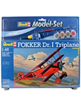 RCS Toys Revell 1:48 Scale Model Assembly Set Fokker Dr.I Triplane