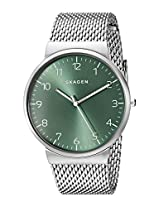 Skagen Ancher Analog Green Dial Men's Watch - SKW6184