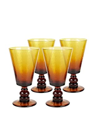 Impulse! Set of 4 Roma 8-Oz. Goblets, Amber