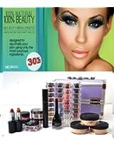 Bundle 18 Items: Micabeauty Cosmetics Professional Artist Mineral Makeup Medium Skin Set Purple Case + Snow Man Nail Kit