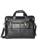 Comfort EL27 Leather Shoulder Bags For Men (Color: Black)
