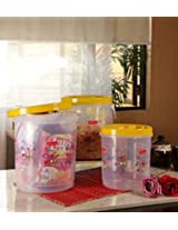 Princeware Twister Container Set Yellow - 3 Containers Total Capacity 22 litre
