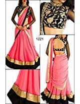 Bollywood Replica Lehenga Georgette Fabric Designer Wear Lehenga: NFS1221