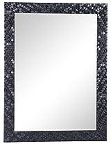Friends Float Glass Wall Mirror (45.72 cm x 60.96 cm x 1.2 cm, Black and Grey)