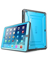 iPad Air Case, SUPCASE Heavy Duty Beetle Defense Series Full-body Rugged Hybrid Protective Case Cover with Built-in Screen Protector for Apple iPad Air (Blue/Black)
