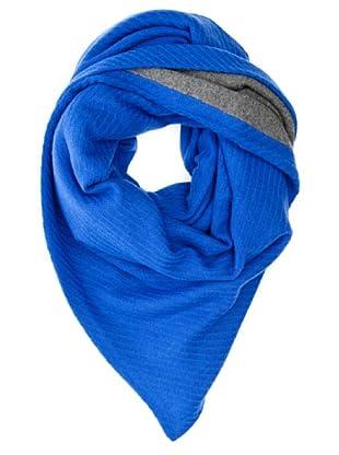 Look Bufanda Bicolor (Azul Cobalto)