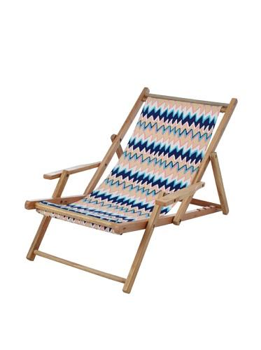 Julie Brown Wooden Reversible Adult Chair (Blue Charlie/Pink Polka)