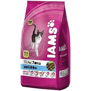 アイムス 毛玉ケア 7歳以上用 シニア 厳選白身魚味 1kg 猫用