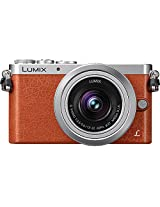 Panasonic Lumix DMC-GM1 Digital Camera with 12-32mm Lens, Orange leather
