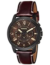 Fossil Grant Analog Brown Dial Men's Watch - FS5088I