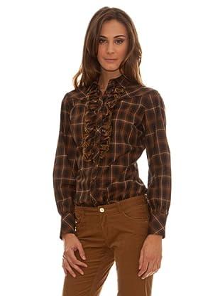 Trussardi Camisa Adorno En Volantes (marrón)