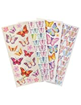 WeGlow International Assorted Butterfly Dimensional Stickers (4 Sheets)