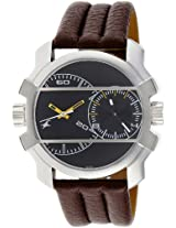 Fastrack Midnight Party Dual Time Analog Black Dial Men's Watch - 3098SL02