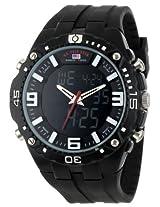 U.S. Polo Assn. Sport Men's US9174  Black Silicone Analog Digital Sport Watch