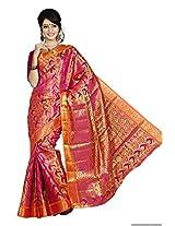 Mimosa Women Kanchipuram Art Silk Saree with Blouse (3006-131-Rani,  Pink)