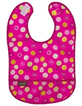 Kushies Taffeta Waterproof Bib - Fuchia, Infant