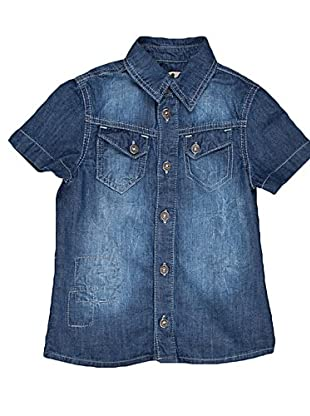 Naf Naf Chevignon Camisa Pespuntes (Azul)
