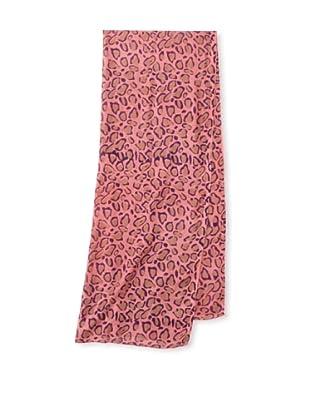 Raj Imports Women's Animal Print Scarf (Pink)