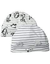 ABSORBA Baby-Boys Newborn B Puppy 2 Pack Cap Set