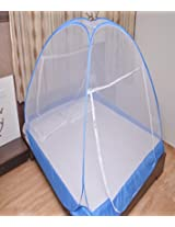 PRC Mosquito Net Foldable Mosquito Net (Blue) (Size-Double bed) Premium