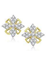 VK Jewels Wonderful Gold and Rhodium Plated Alloy Stud Earrings for Women & Girls -ER1353G [VKER1353G]