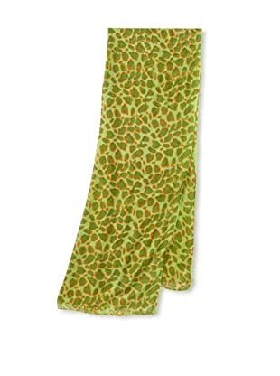 Raj Imports Women's Animal Print Scarf (Green)