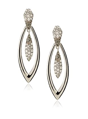 Judith Leiber Silver-Tone Double Oval Earrings