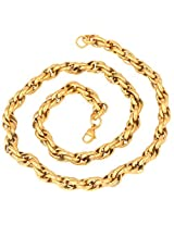 """The jewelbox men stainless steel gold plated heavy link honey S long chain 23"""""""