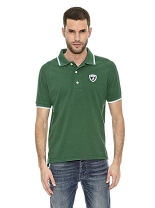 Lamborghini Polo shirt Tip (Verde / Blanco)