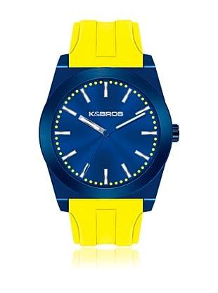 K&BROS Reloj 9560 (Azul Amarillo)