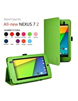 Exact Folio Case for Google Nexus 7 FHD 2nd Gen 2013 Android Tablet by Asus Green