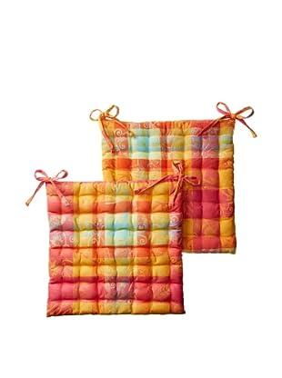 Garnier-Thiebaut Mille Set of 2 Panache Chair Cushions (Paradise)
