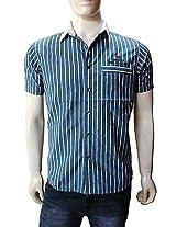 Wrangler Blue Striped Men Casual Shirt 1840
