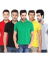 Concepts Men's Casual Shirt (TSHT_C5_BKGYRDYWGR_Multi_40)