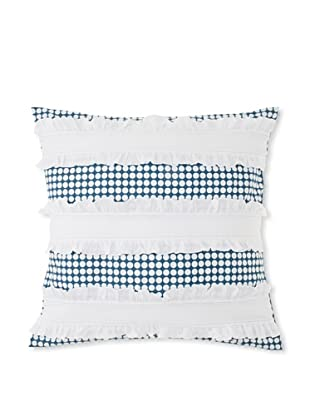 India Rose Ida Euro Sham, White/Navy, 26