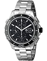 TAG Heuer Men's THCAK2110BA0833 Aqua Racer Analog Display Swiss Automatic Silver Watch