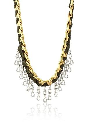 Leslie Danzis 2-Tone Art Deco Necklace, Gold